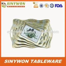 5 Sizes Good Style Wholesale Melamine Plastic Storage Tray
