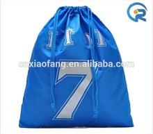 promotional polyester drawstring shopping bag ,custom bag logo