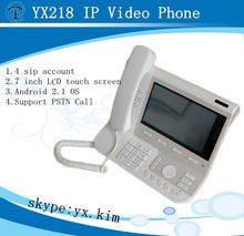Android 2.1 OS Asterisk IP Phone, 7 Inch SIP Video Phone, 4 SIP IP Phone With PoE