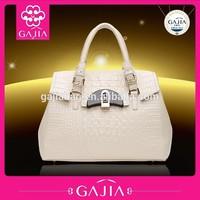 2014 new authentic handbag crocodile grain qiu dong first layer leather shoulder aslant female bag