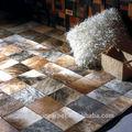 La serie mp de lujo de cuero alfombras patchwork, de cuero de vaca alfombras alfombras