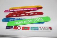 Funny Silicone slap bracelets/printed snap wristband/Colorful reflective slap bands