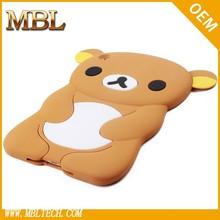 for siilicon bear case cover ipad mini, cute animal silicon case cover for ipad mini