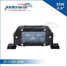 "Juntu mini bar 4.6"" 20w 12v off road led light bar with projector lens"