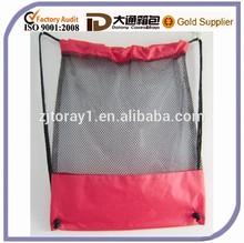 Nylon Mesh Sports Drawstring Small Bag Backpack Shoulder Bag