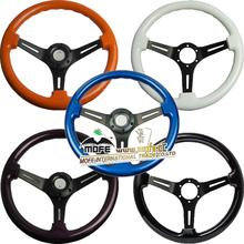Racing car 350mm wood steering wheel in China wholesales market