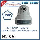 Hichip pan tilt Dome 2.0 Megapixel wireless IP Camera with two way audio