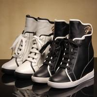 new Fashion Women's Classic popular women wedge sneakers/Height increasing shoes