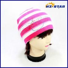 HZM-12214010 Butterfly sequin knitting patterns fancy ski hat knitting pattern