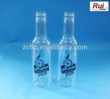 150ml plastic juice bottle, plastic wine shape bottle, PET bottle for drink
