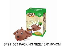 N+New item---Color clay.Children DIY playing set. Mud color clay.SF211583