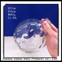 1.5L football shape glass beverage bottle for wine