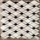 Bianco Carrara Mixed Nero Narquina Diamond Shaped Tile Kitchen Wall Tiles