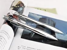 Arc-shaped pen plating all silver executive ball oen clicker