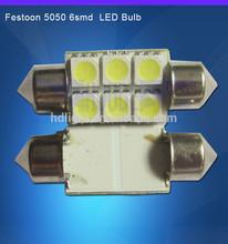 Purple 39MM 6 SMD 5050 LED Festoon Dome Car Light Interior Lamps Bulbs 12V