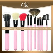 QK natural professional lastest make up brush set of china