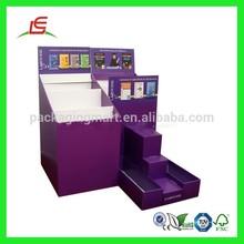Q328 Manufacturing Cheap Cardbroad Book Display Shelf
