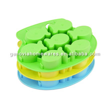FDA & LFGB approved novelty round and square silicone ice cube tray for wholesales