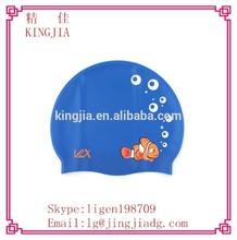 custom design silicone swimming cap,retail summer silicone swimming cap,cartoon silicon swim cap