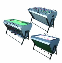 new multi game table for adult soccer/billiard/air hockey