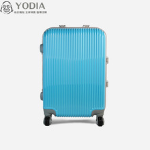 Aluminum Trolley large luggage case Colorful Customized ABS PC luggage case