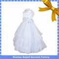 Años 2-6 chica blanco hermoso ángel vestidos para niños al por mayor de china