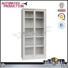 Modern office furniture/sliding glass door filing cabinet/stainless steel file cabinet