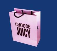 Free sample printing bag pink paper bag