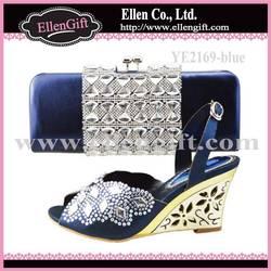 Italian New Design Shoes and Bag Set YE2169-Blue
