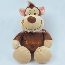 Promotion gift organic cotton toy soft toy brown monkey plush toy