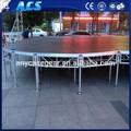 Al aire libre y escenario de madera/etapa de aluminio sistema de armadura para la venta/peso de luz al aire libre el concierto de la etapa de diseño
