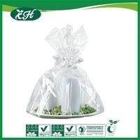 wholesale promotional custom plastic hanging flower bag