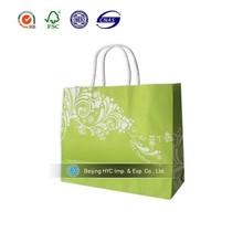 Shiny green wedding decorative door kraft paper gift bag