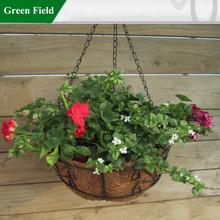 Green Field Metal Garden Baskets,Planting Flower Metal Garden Basket