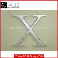 Siliver fashion wooden alphabet letter decoration