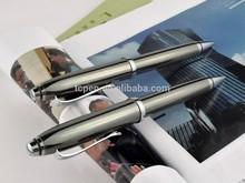 Gun Gray metal pen dark greypen holder ball pen with black lines