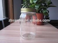 16 oz Round glass mason jar with screw lid