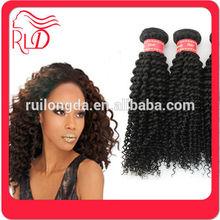 Customized new products virgin malaysian kinky curl hair weave