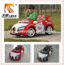 Auto elettrica bambini 6v, bambini cavalcata elettrica su auto bugatti
