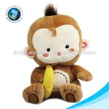 Wholesale plush monkey names with banana custom stuffed plush monkey