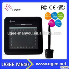 Ugee 5*4 inches working area USB and hotkeys M540 mini size signing tablet