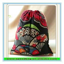 Colourful Signature Cotton jewelry bags promotion bag Cheap Tea storage bag fabric drawstring bag FW15880