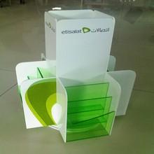 customized acrylic rotating file leaflet stand