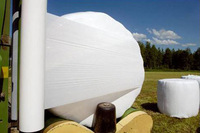 White grass wrap LLDPE plastic silage film 25MICRON X 750MM