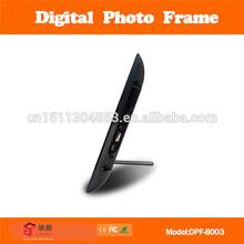 slim light box display digital photo frame acrylic digital picture frame can read mp3/