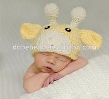 100% cotton crochet hat winter animal knit hat weave weave knit hat