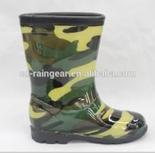 2014 New Camo Boys Sex Picture Rain Boots For Kids