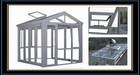 Heat Insulation Glass sun house / Glass Winter Garden for veranda