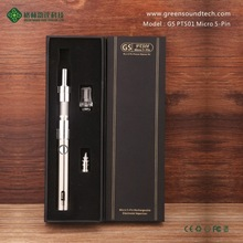 New arriving !!! electronic cigarette wholesale long lifespan micro 5 pin GS PTS01 ego e cig wholesale china