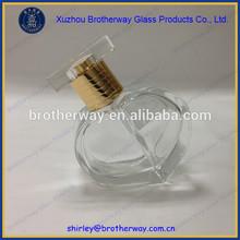 50ml fancy heart shaped glass spray perfume bottle